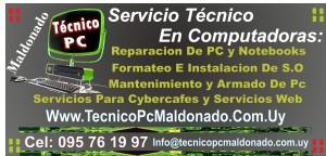 Tarjeta Tecnico Pc y notebook Maldonado