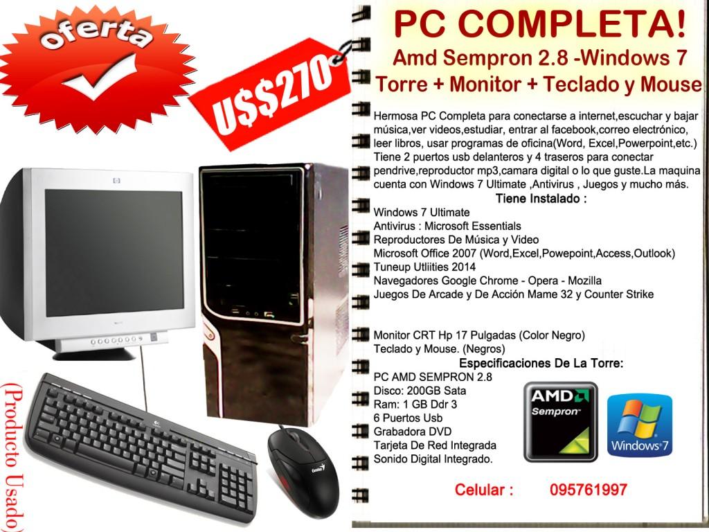 Comprar Pc Amd Completa - Sempron 1 GB